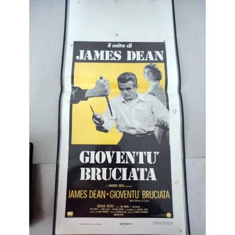 LOCANDINA CINEMA ORIGINALE JAMES DEAN GIOVENTU' BRUCIATA