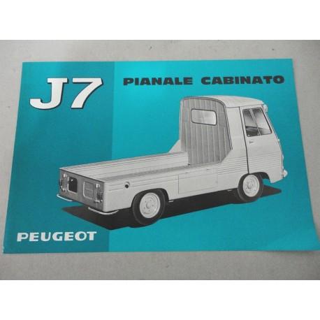 PROSPEKT BROCHURE DEPLIANT PEUGEOT J7 PIANALE CABINATO