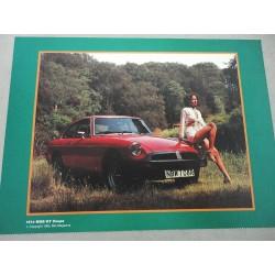 PROSPEKT BROCHURE DEPLIANT MG MAGAZINE GUIDE N° 16 1966 MGB/GT COUPE