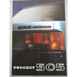 PROSPEKT BROCHURE DEPLIANT PEUGEOT 505 SRD TURBO 4 PAGINE ITALIANO PIEGA MARCATA
