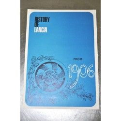 FASCICOLO HISTORY OF LANCIA FROM 1906 TO 1969 ED. 8/1969 ENGLISH