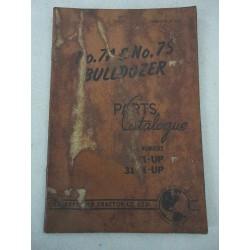 CATERPILLAR NO. 7A 7S BULLDOZER PARTS CATALOGUE ENGLISH TEXT FORM CTC 14-476
