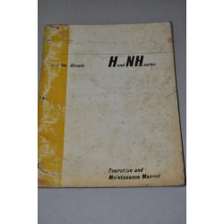 CUMMINS DIESEL OPERATION MAINTENANCE MANUAL H & NH SERIES 1965 POOR CONDITIONS