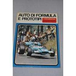 AUTO DI FORMULA E PROTOTIPI I DOCUMENTARI ISTITUTO GEOGRAFICO DE AGOSTINI 1970