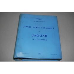 JAGUAR SPARE PARTS CATALOGUE 2.4 LITRE MARK 2 1964 ENG. GOOD BUONO