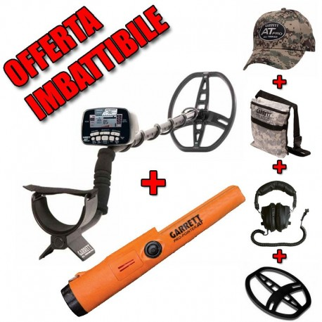GARRETT AT PRO INTERNATIONAL METAL DETECTOR + PRO POINTER AT + ACCESSORI