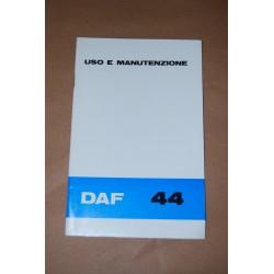 LIBRETTO USO MANUTENZIONE DAF 44 ITALIANO 0972- S 3209 ECCELLENTE