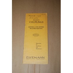 EISEMANN - MAGNETO COUPLINGS INSTRUCTION INSTALLATION MAINTENANCE ENGLISH