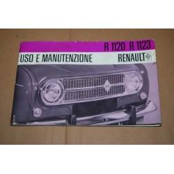 RENAULT R 1120 R 1123 LIBRETTO USO MANUTENZIONE 1967 CONDIZONI MEDIOCRI