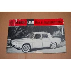 LIBRETTO USO MANUTENZIONE RENAULT R 1130 ONDULAZIONI E MACCHIE - MEDIOCRE