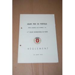 GRAND PRIX DU PORTUGAL 3° CIRCUIT INT. DE PORTO 22 JIUN 1952 REGLEMENT - OTTIMO