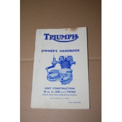 TRIUMP OWNER'S HANDBOOK UNIT CONSTRUCTION USA EDITION - POOR