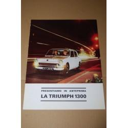 PROSPEKT BROCHURE DEPLIANT TRIUMPH 1300 - 2 PAGINE ITALIANO