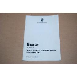 PORSCHE BOXSTER IN SINTESI MODELLO 2,7 l E MODELLO S ANNO 2002