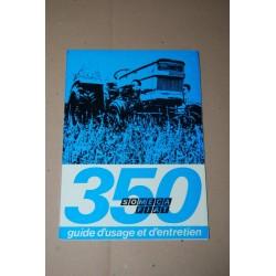 SOMECA FIAT 350 TRATTORI GUIDE D'USAGE ET D'ENTRETIEN 1971 - FRANCESE