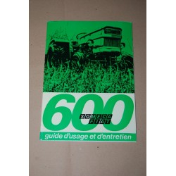 SOMECA FIAT 600 TRATTORI GUIDE D'USAGE ET D'ENTRETIEN 1972 - FRANCESE