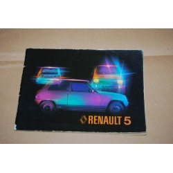RENAULT 5 USO MANUTENZIONE L R1221 TL R1222 GTL R1225 TS R1224 SOCIETA' R2382