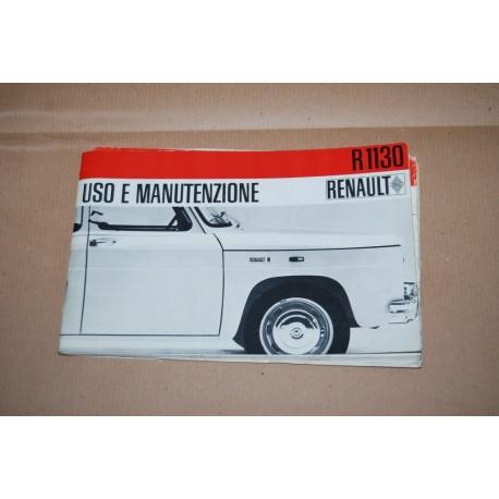 RENAULT R 1130 LIBRETTO USO MANUTENZIONE