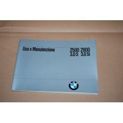 BMW 2500 2800 3.0 S 3.0 Si LIBRETTO USO MANUTENZIONE 1974 BUONO