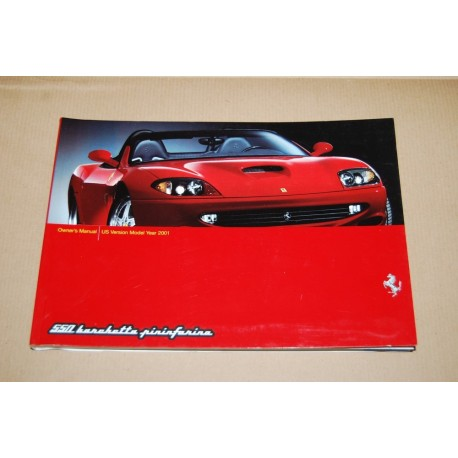 FERRARI 550 BARCHETTA PININFARINA OWNER'S MANULA US VERSIONE MODEL YEAR 2001