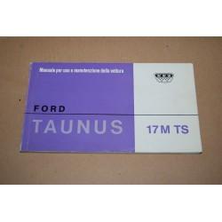 FORD TAUNUS 17M TS MANUALE USO MANUTENZIONE 1965 1° ED.