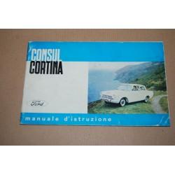 FORD CONSUL CORTINA MANUALE D'ISTRUZIONE 2° ED. GENNAIO 1963