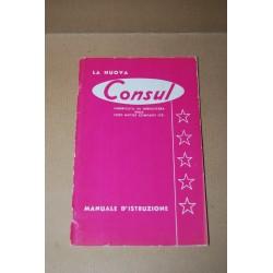 FORD CONSUL MANUALE D'ISTRUZIONE EDIZIONE 1957 MOLTO BUONO