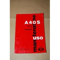 INNOCENTI AUSTIN LIBRETTO USO MANUTENZIONE A40 BERLINA E COMBINATA GENNAIO 1963