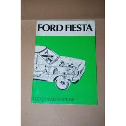 FORD FIESTA LIBRETTO USO MANUTENZIONE ED. GIUGNO 1976