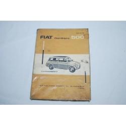 Fiat 500 Giardiniera catalogo parti ricambio carrozzeria 3° ed. 1963 mediocre