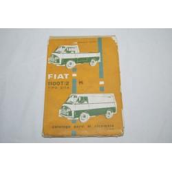 Fiat 1100 T/2 tipo 217 A catalogo parti ricambio 1963 2° ed. Discreto