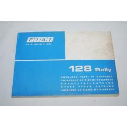 Fiat 128 Rally catalogo parti ricambio 1975 - 1° ed. Buono