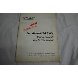 Fiat Abarth 124 rally dati principali per le riparazioni 1973