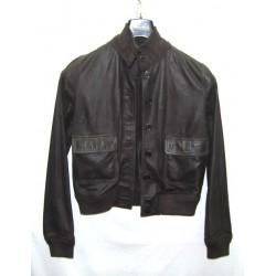 Valstarino giacca in pelle marrone tg 46 pari nuovo