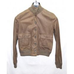 Valstarino giacca in pelle marrone chiaro tg 46 pari nuovo