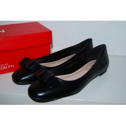 Scarpe donna ballerine nere con fiocchetto n° 38 nuove
