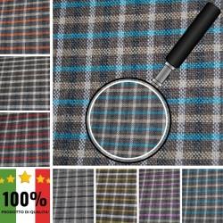 RI-QUADRI X012 - Tessuto per divani poltrone 100% Poliestere 7 varianti