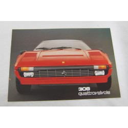 Prospekt brochure depliant Ferrari 308 4 valvole GTSi GTBi 3 pagine