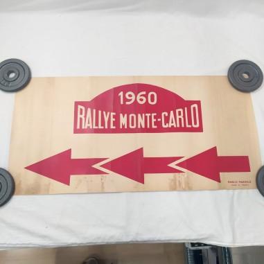 Manifesto originale Rallye MONTE CARLO 1960 80x39 cm