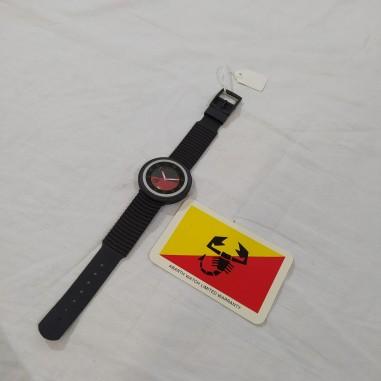 Orologio polso uomo ABARTH 40 mm Swiss made, nero rosso nuovo
