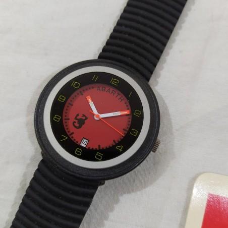 Orologio polso uomo ABARTH 40 mm Swiss made rosso con datario nuovo