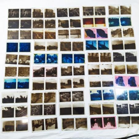 lotto di 48 diapostive doppie soggetto I° guerra mondiale su vetro