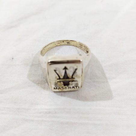 Anello uomo in argento originale MASERATI peso 10,8 grammi diametro 21 mm