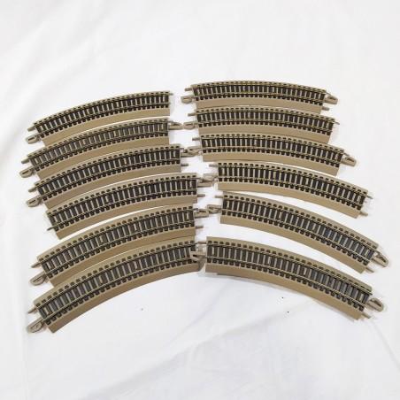 Lima Rivarossi 11 binari curvi LIMA-LINE usati scala H0