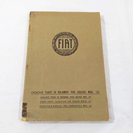 FIAT Mod. 520 catalogo parti di ricambio per chassis - 1929 - 4 lingue