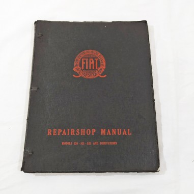 FIAT REPAIRSHOP MANUAL MODEL 520 521 525 and derivations - Inglese 1930