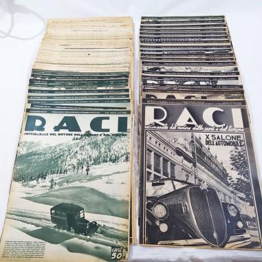 RIVISTA RACI lotto di 41 numeri anni 1934 1935 1936 e 1937 buono stato