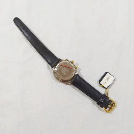 BULOVA orologio chronografo acciaio fondo nero mov. quarzo inusato