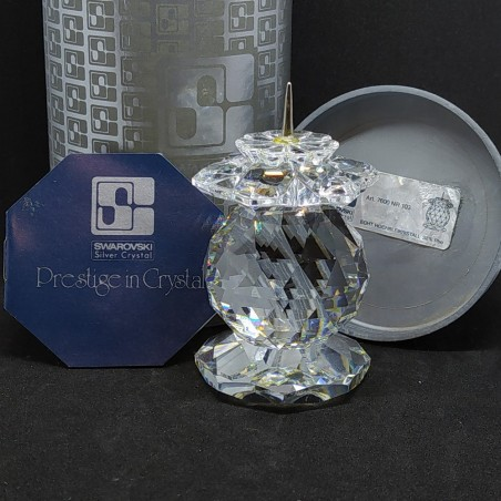 Cristallo Swarovski candeliere candle holder Art. 7600 NR 103 integro