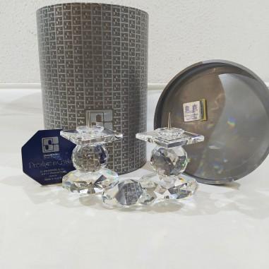Cristallo Swarovski candeliere candle holder 7600 108 000 scatola e certificato
